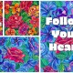 Floral pattern and background vector set
