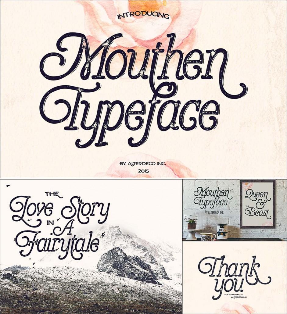Mouthen Typeface Serif Font