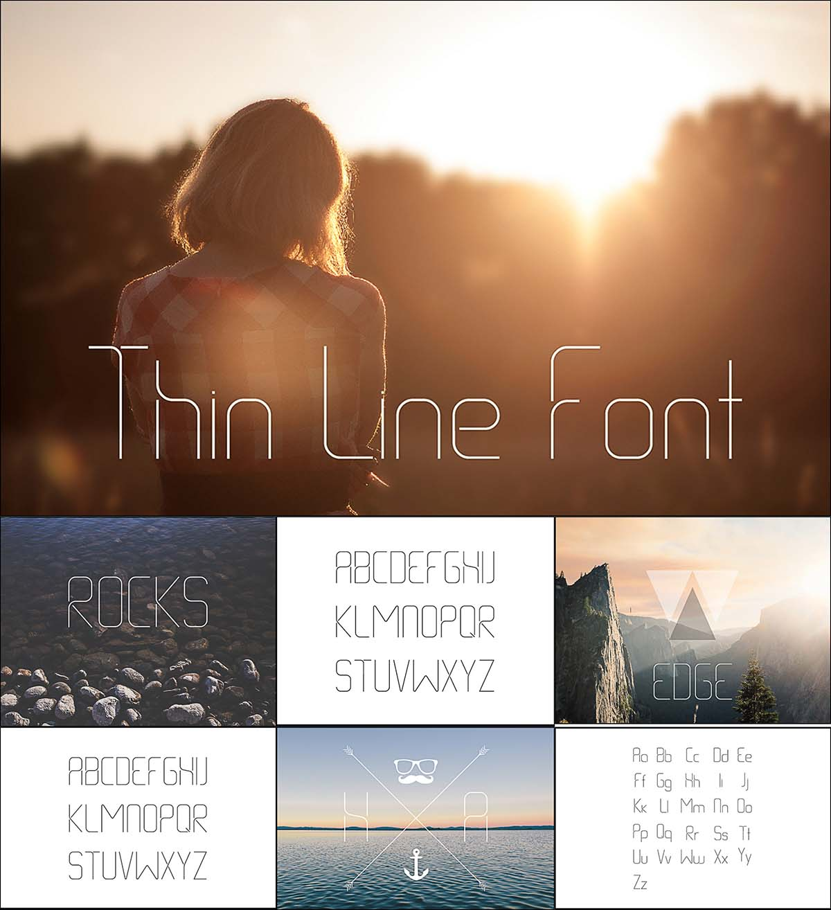 Thin line smooth font