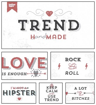 Trend hand made font family bundle