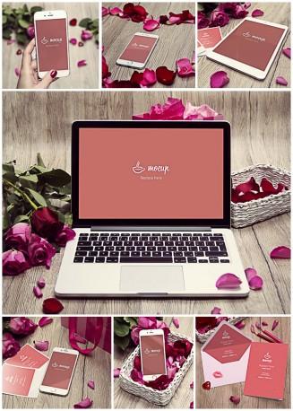 IPhone 6 Valentine's Day mockup set