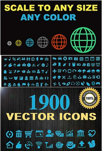 Icon set vector collection