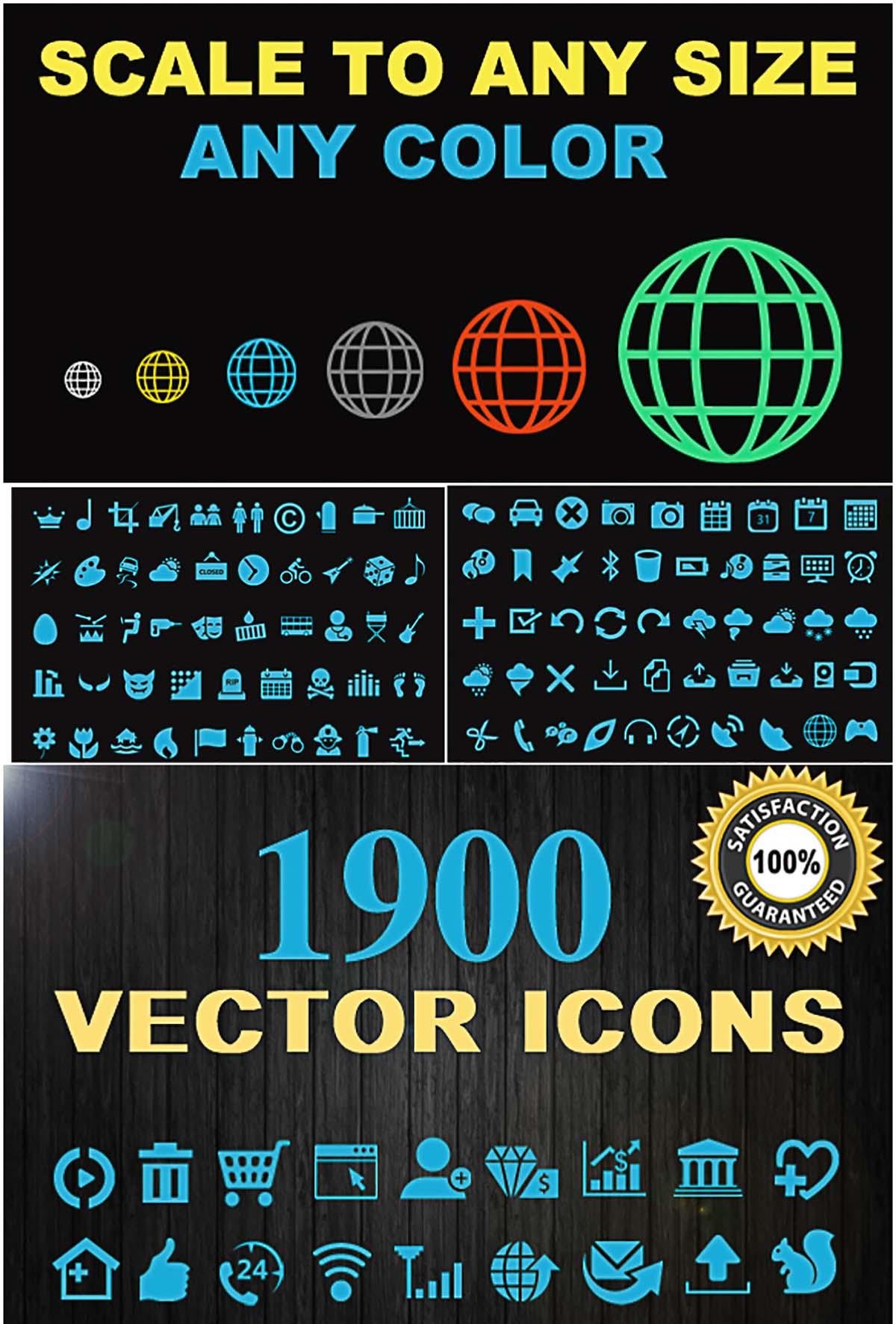 Icon set vector collection