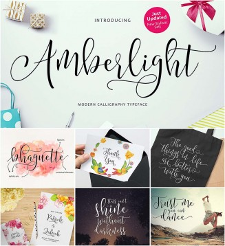 Amberlight calligraphy script