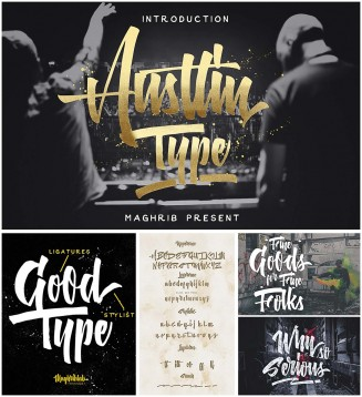 Austtin hand painted typeface