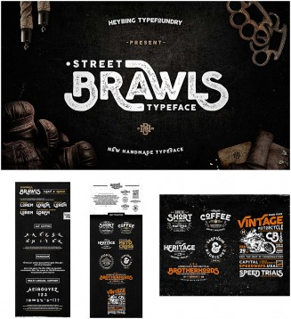 Brawls font with extra