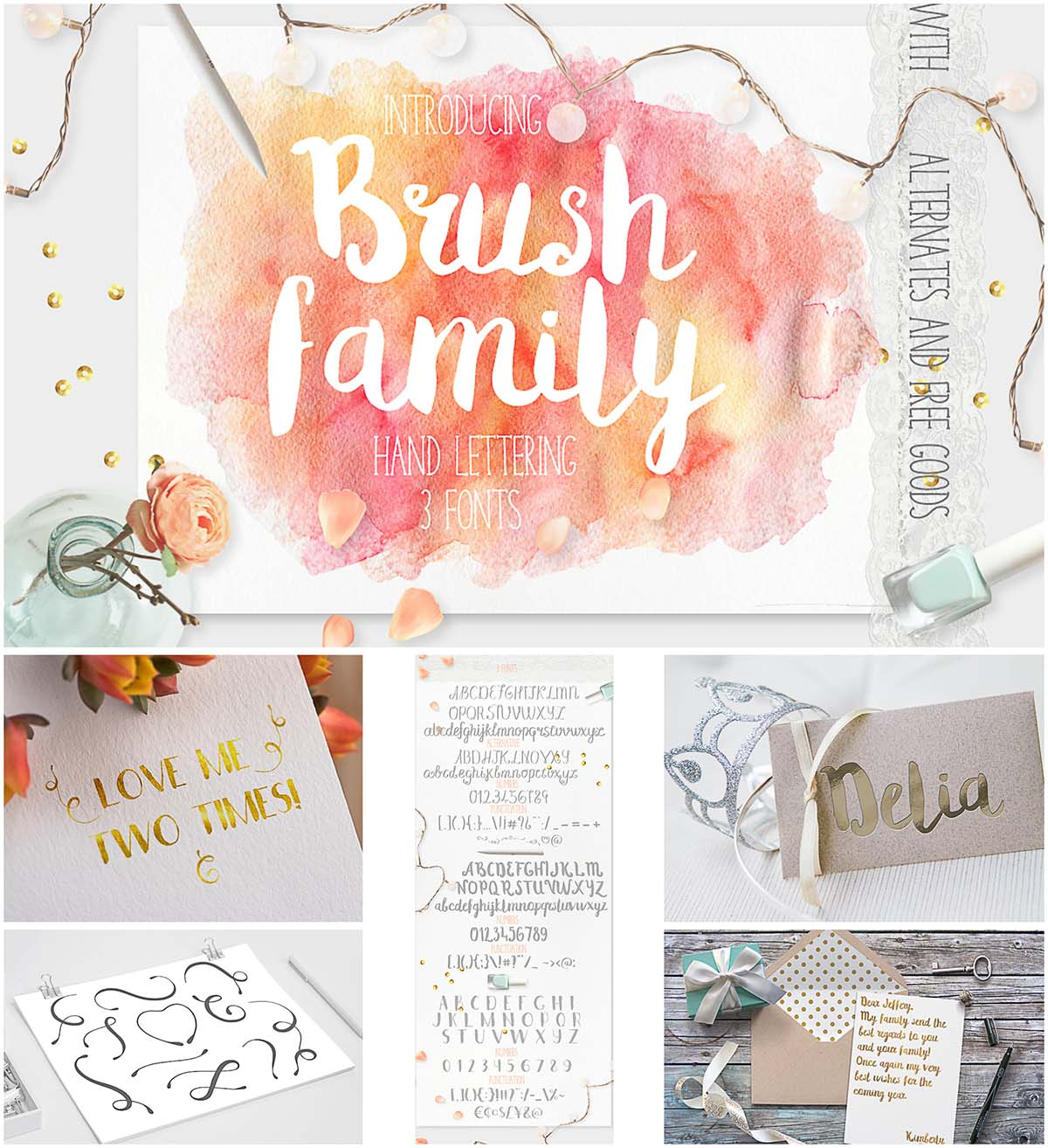 Brush family font collection