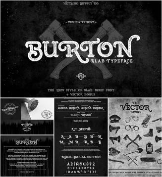 Burton serif typeface
