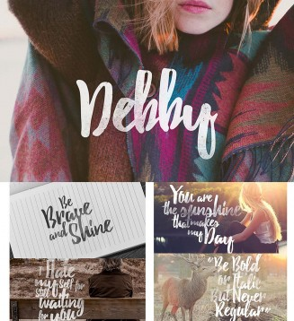 Debby hand drawn brush font