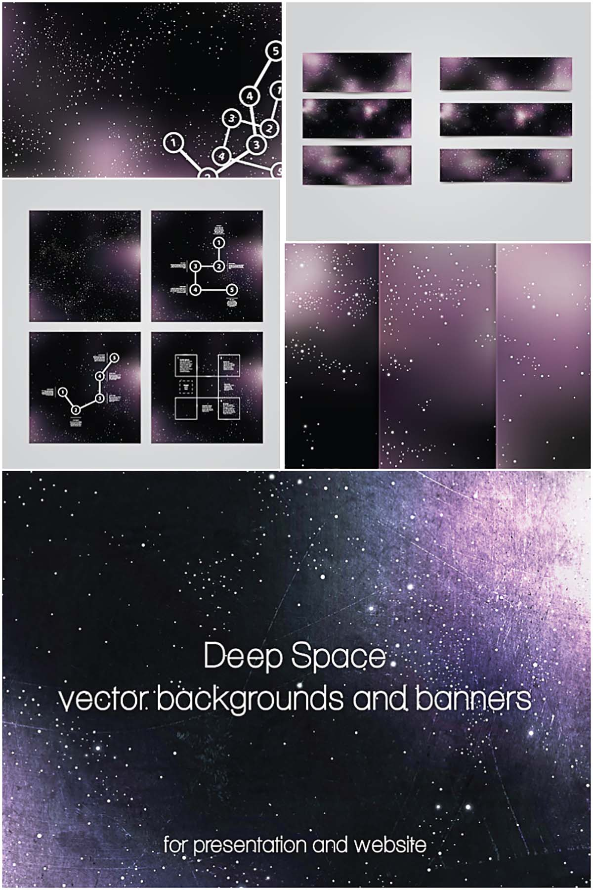 space backgrounds and banners vector