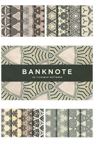 Banknote pattern unique set