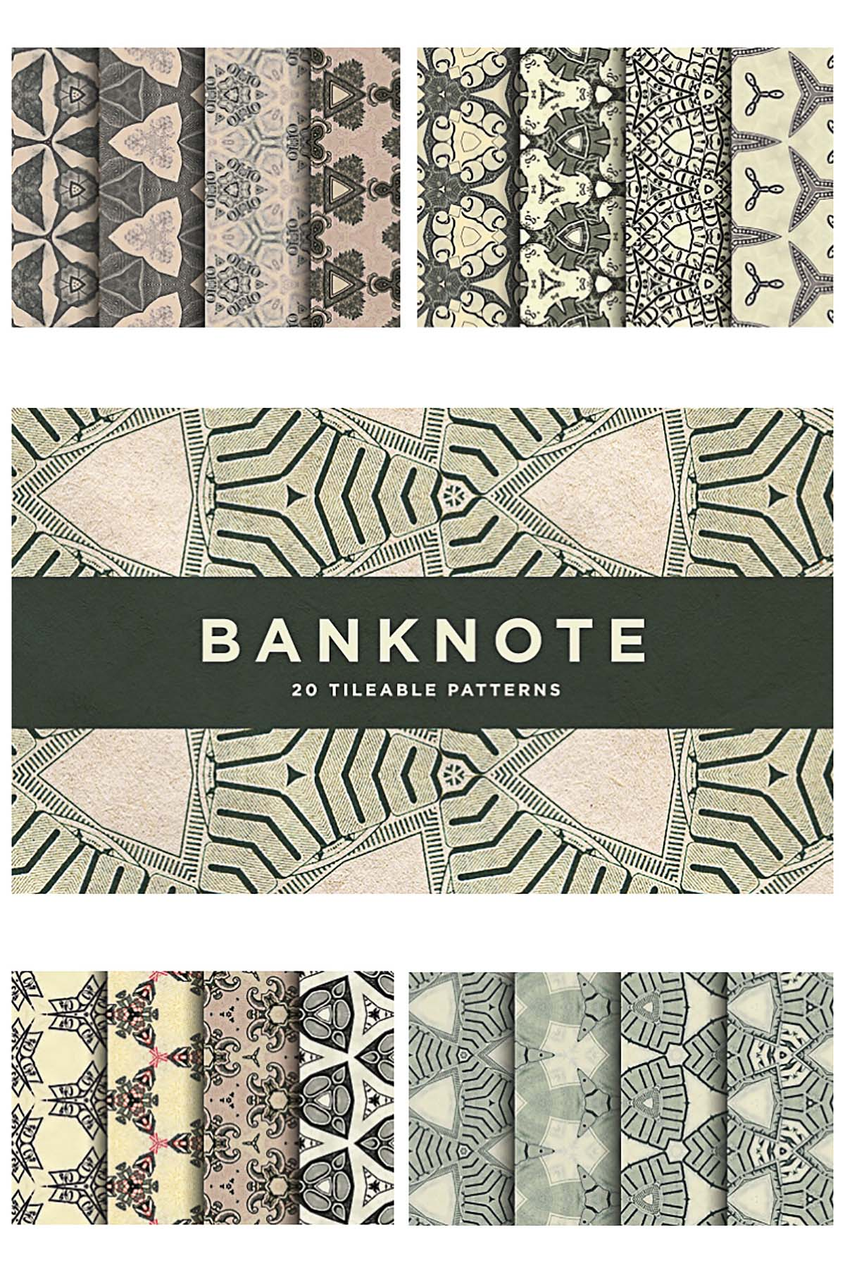 Banknote pattern unique set