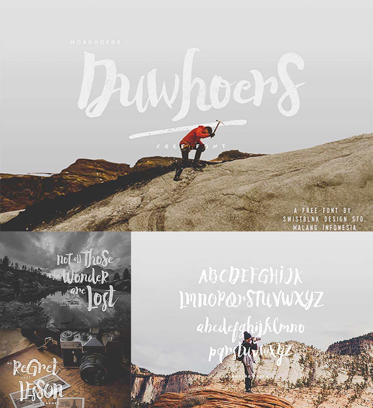 Duwhoers creative brush and font
