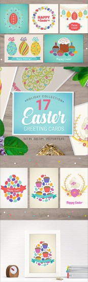 17 Easter cards and greetings collection