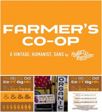 Farmers co-op font collection