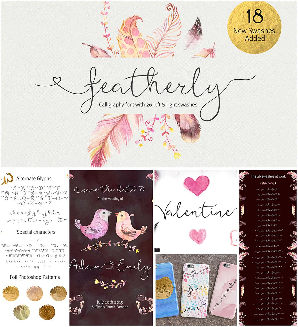 Featherly calligraphy font