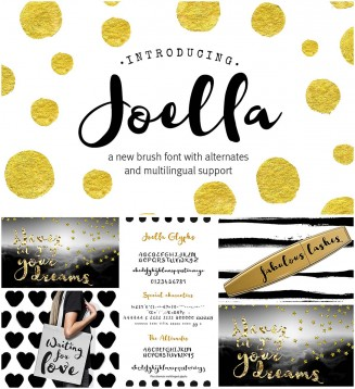 Joell calligraphy typeface