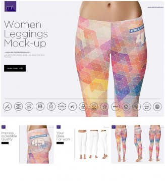 Leggins mock-up set