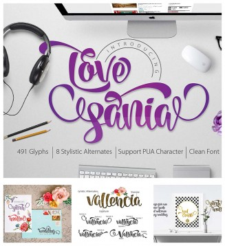 Love Sania romantic calligraphy font