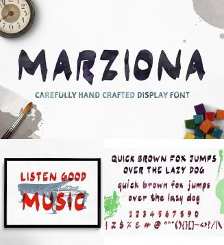 Marziona brush font