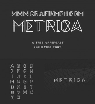 Metrica free mechanical typeface
