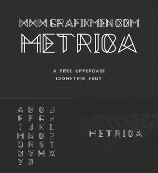 Metrica free mechanical typeface