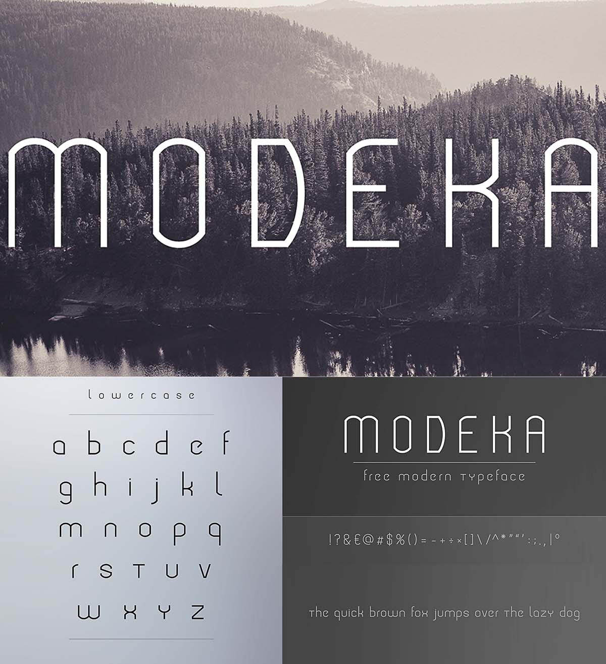 Modeka typeface free font