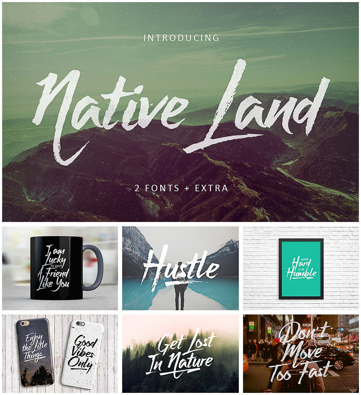 Native land font set