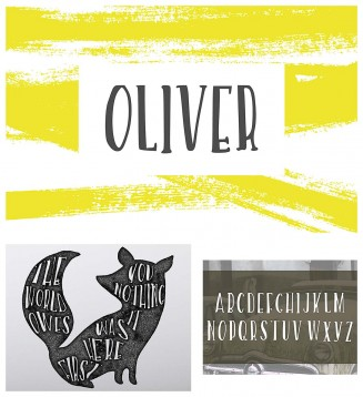 Oliver hand lettering font