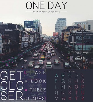 One day clean font