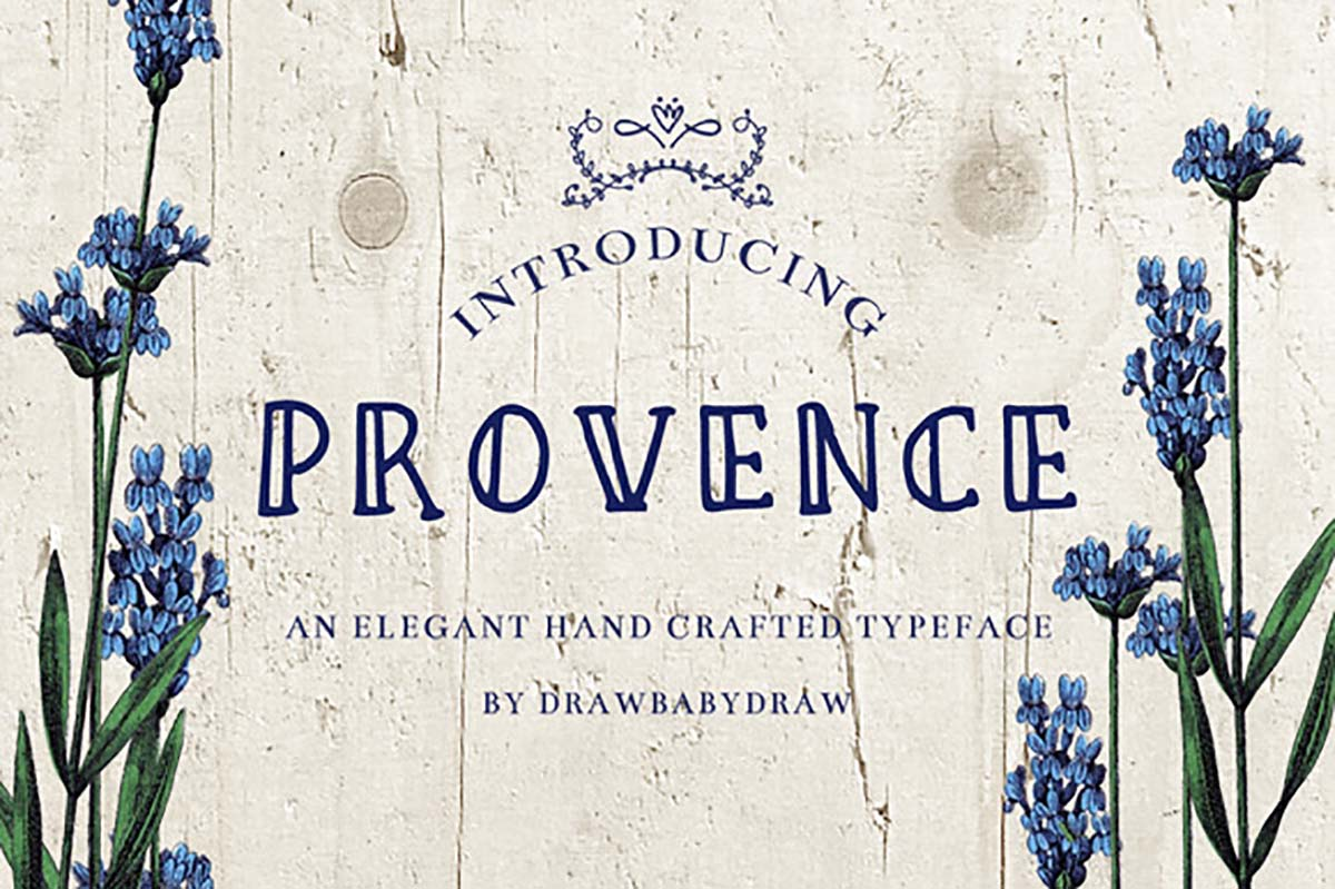 Provence romantic font