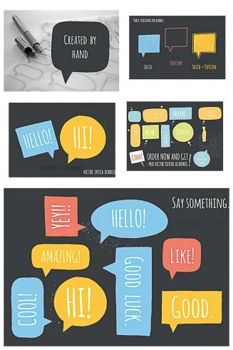 Hand drawn speech bubble