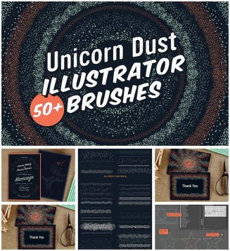 Unicorn dust brushes collection