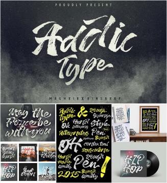 Addictype brush font