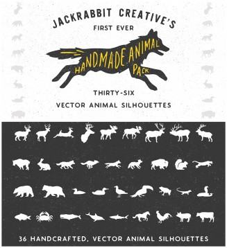 Animal silhouttes vector bundle