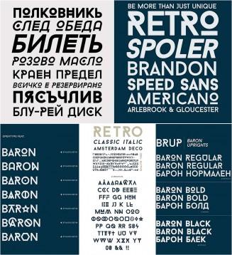 Baron cyrillic fonts