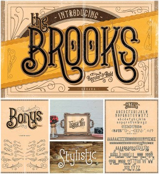 Brooks vintage font with flourishes