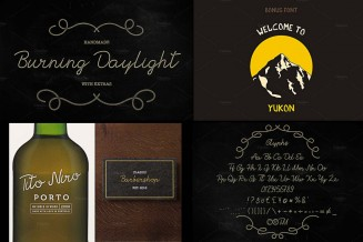 Burning daylight vintage font with bonus