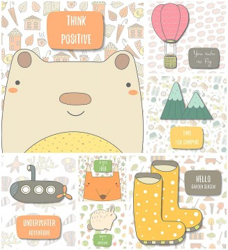Funny postcards collection