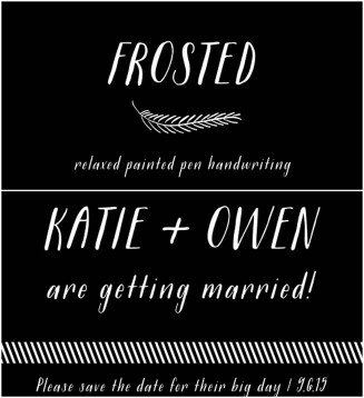 Frosted font with flourishes