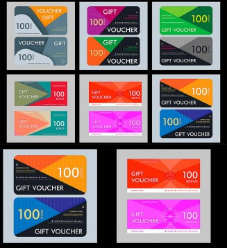Voucher template modern gift card