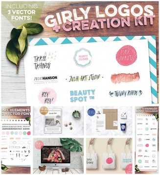Girly logo business creation kit