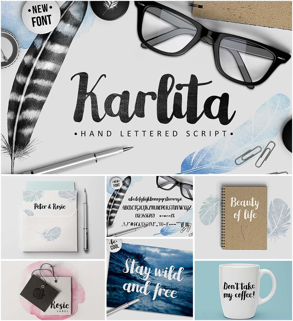 Karlita calligraphy script
