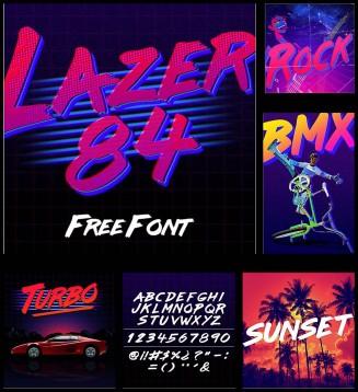 Laser 84 vintage font