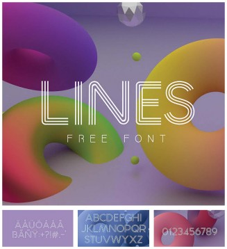 lines free modern font