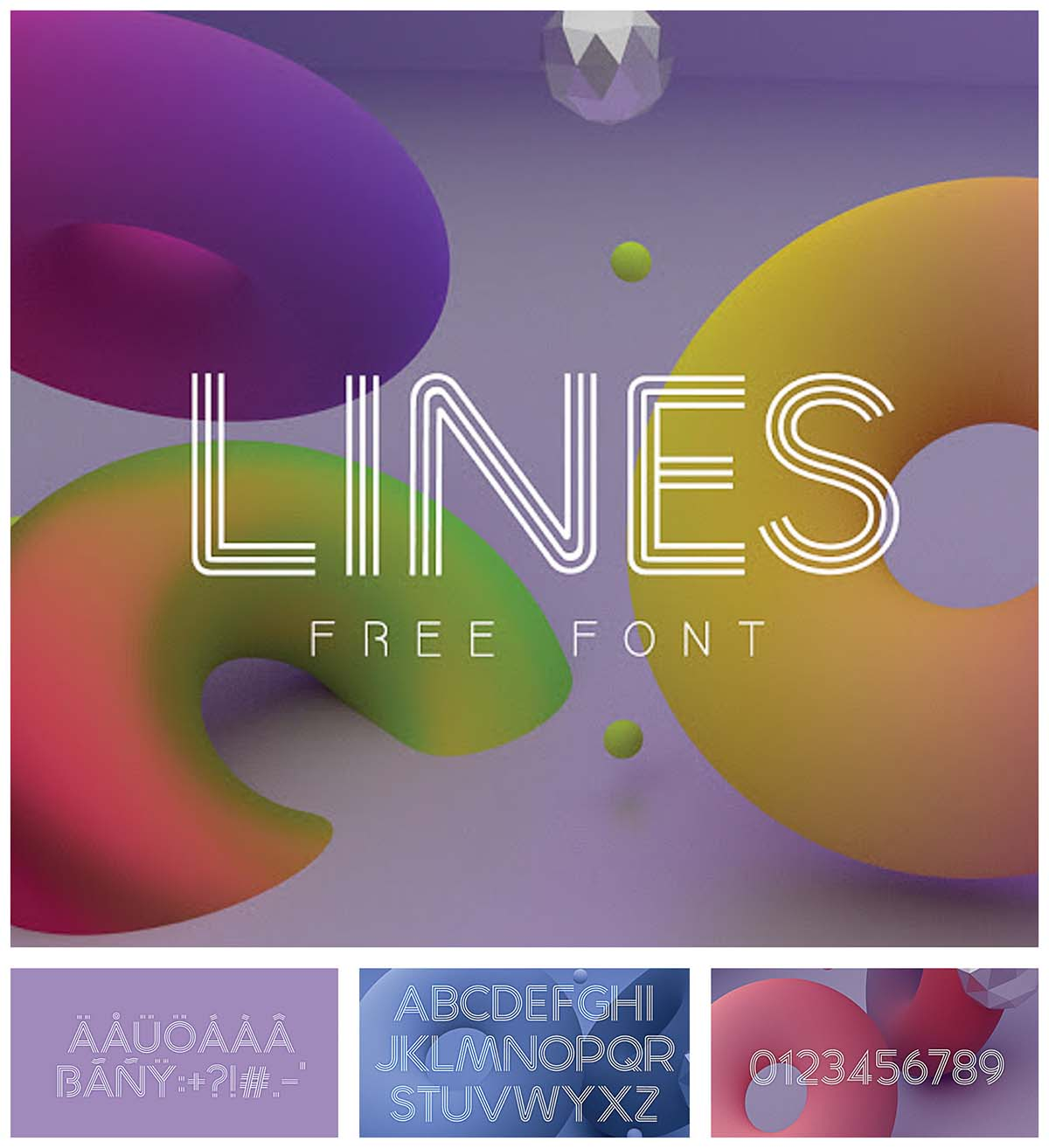 lines free modern font
