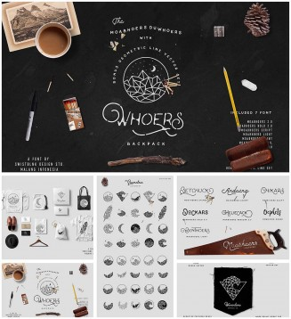 Moabhoers Duwhoers font pack with bonus