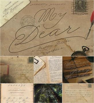 My Dear handwritting script