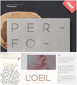 Perfograma creative cyrillic font