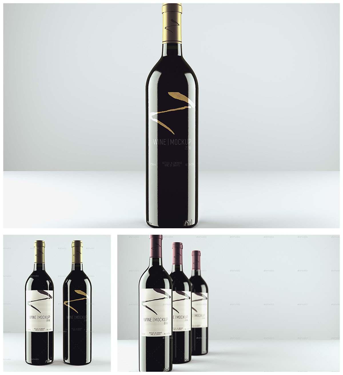 Red wine mockup